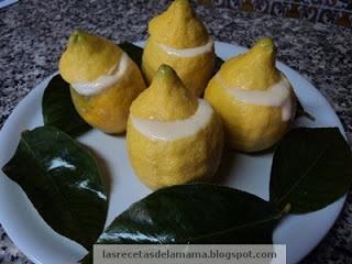Las recetas de la Mama: Receta de Limones helados