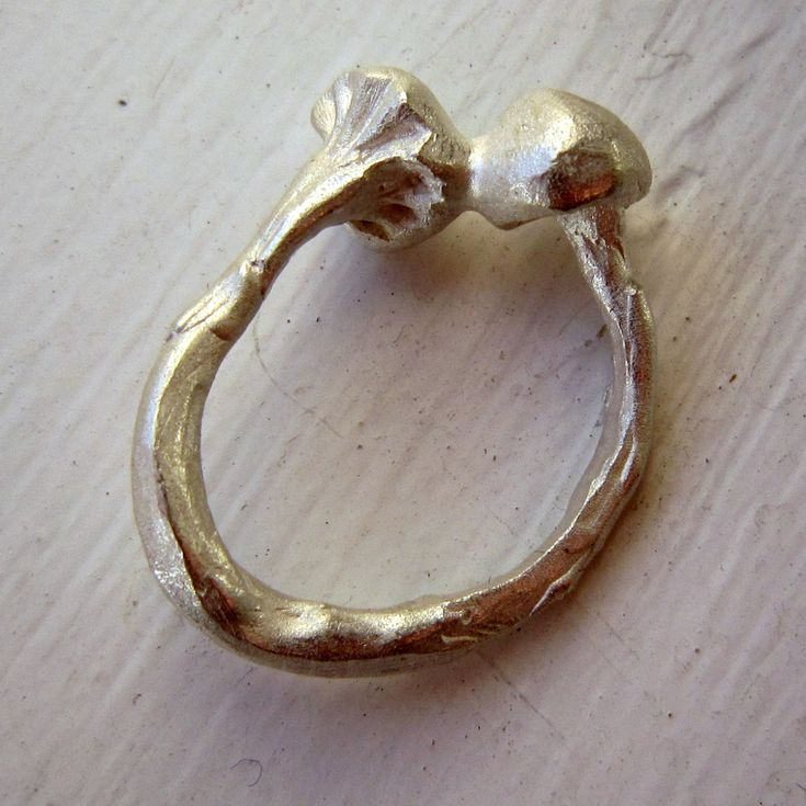 Limited collection of silver mushroom rings [1] by kochiokada on Etsy