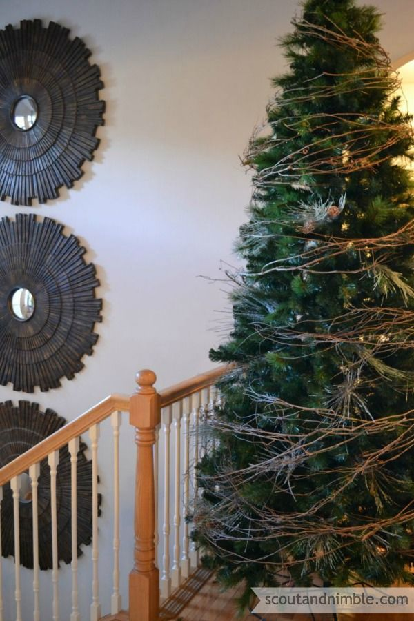grapevine wreath turned tree garland