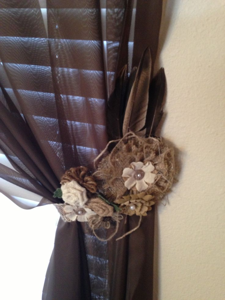 Curtain Tie Back Created With The Help Of Hobby Lobby