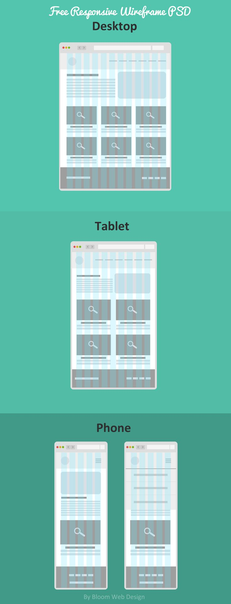Today's freebie isFree Responsive Wireframe PSD. ThisFree Responsive Wireframe PSD Template was created using a Flat style and contains neatly arranged layers making it easy for you to edit and make it your own. ThisFree