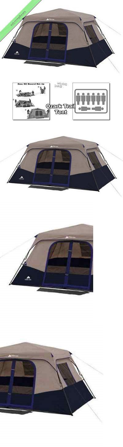 Tent and Canopy Accessories 36120 Ozark Trail Tent 8 Person 2 Rm 13X9 Family Instant  sc 1 st  Pinterest & Best 25+ Ozark mountain cabins ideas on Pinterest | Tent camping ...