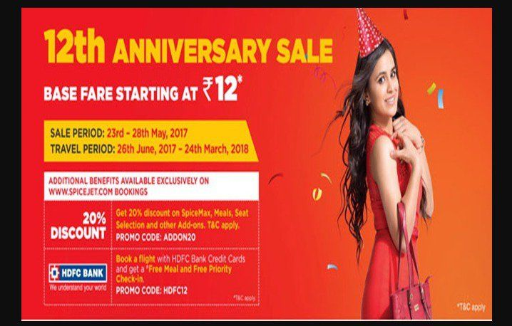 #SpiceJet #Offers Flight Ticket Fare starting at Rs.12: SpiceJet #12thanniversary #Sale2017 https://techfactslive.com/spicejet-offers-flight-ticket-fare-starting-at-rs-12-spicejet-12th-anniversary-sale-2017/29664/