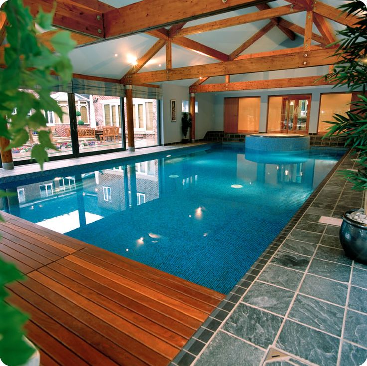 52 best indoor pool ideas images on pinterest indoor for Indoor swimming pool design ideas