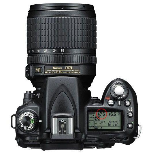 Nikon D90 Top Panel - Shutter Speed in language I understand.
