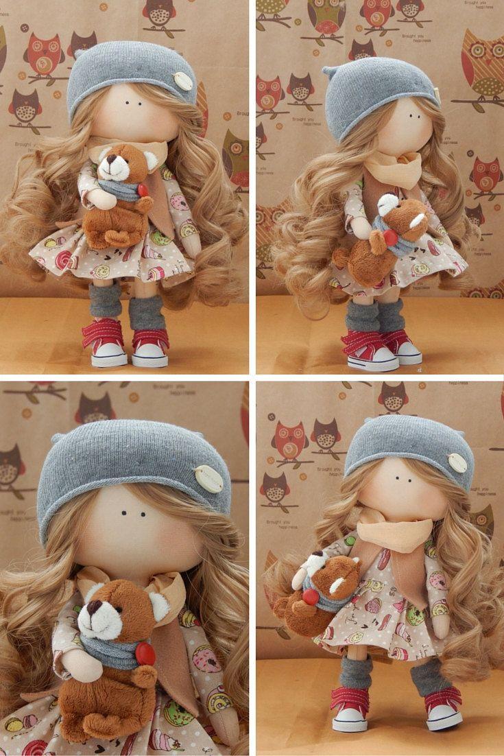 Handmade doll Fabric doll Tilda doll blonde by AnnKirillartPlace