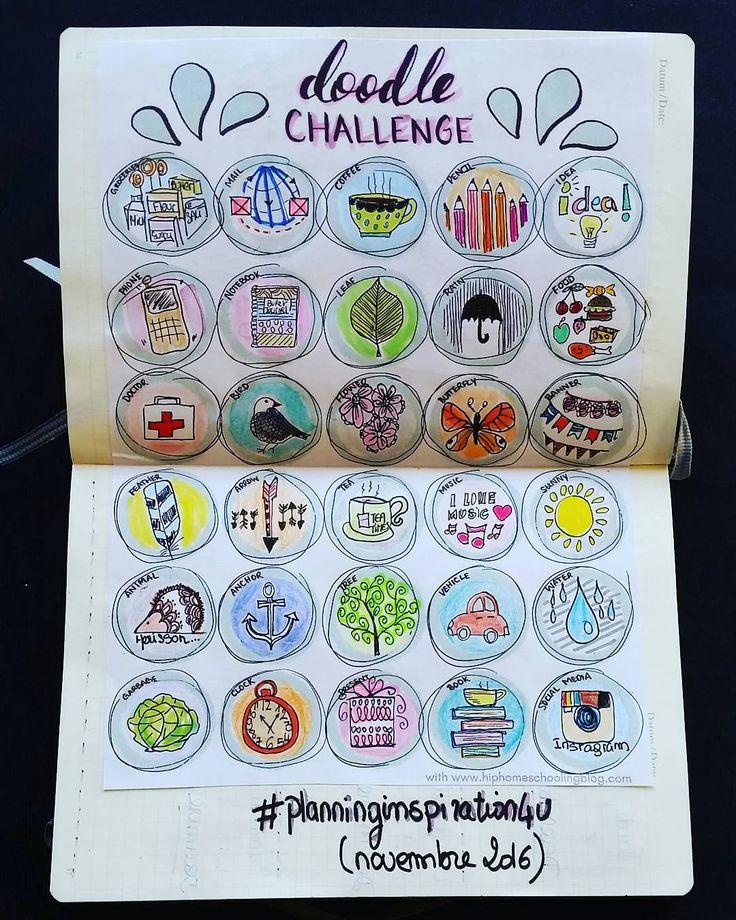 bullet journal bujo planner challenge doodling