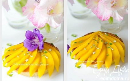 Карибские пирожные с кокосовым кремом   Кулинарные рецепты от «Едим дома!»