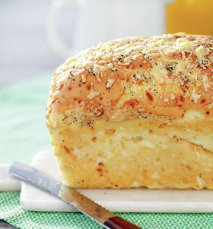 Recept på glutenfritt ostbröd.