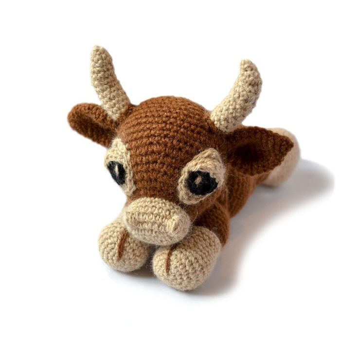 This is Clementine, a sweet little Aubrac cow looking for adventure! Clementine measures about 8 inches sitting in a DK yarn, but she can be made from any weight yarn and appropriate hook for different sizes. The pattern contains instructions for both a jointed cow and a cow with fixed arms and legs. It is an easy pattern to follow with plenty of diagrams and you will always be welcome to contact me for any extra help.This pattern is in US Terminology.Materials needed:• 100g ball DK weight…
