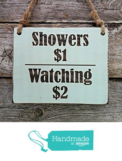 Shower 1 Watching 2 Small Hanging Sign Lake Sign