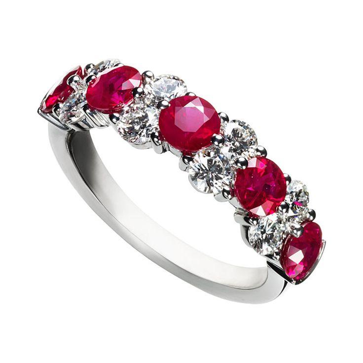 Diamond and colour stone eternity ring.    www.uwekoetter.com