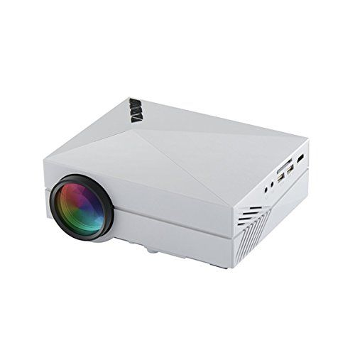 IMAGE SIZE: 49-130 inch (Min-Max); 50-inch image is recommended for normal light environments (i.e. small office / classroom presentations, anywhere gaming/entertainment, travel). 100-inch image is generally recommended for low light environments (i.e. home theater, man cave, garage cave, camping, outdoor movie night). * MULTI-FUNCTION: Video projector with VGA, HDMI, USB, headphone and AV interface, built-in SD card read unit, can connect any phones and tablet computers, DVD, VCD and…