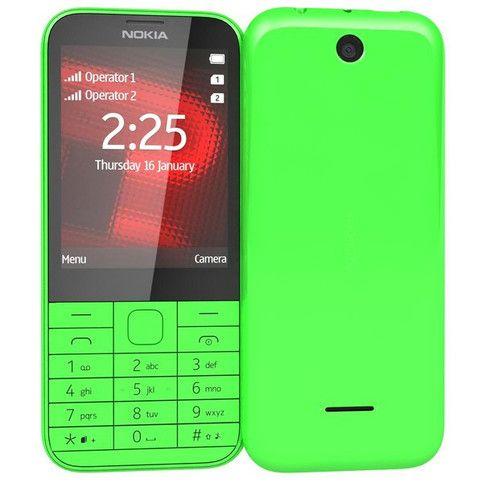 NOKIA+225+DUAL+SIM+RM1011+UNLOCKED+MOBILE+PHONE+yellow  The+Nokia+225+is+a+feature+phone+sporting+a+2.8-inch+display,+2-megapixel+camera,+music+player,+FM+radio+and+a+microSD+card+slot  Product+Heightlights+: 2.8+inches+Screen Dual+SIM+(Mini-SIM,+dual+stand-by) 2+MP+Camera,+1600+x+1200+pix...