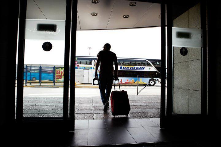 Arrival zone - Orio al Serio Airport Just outsite the door!
