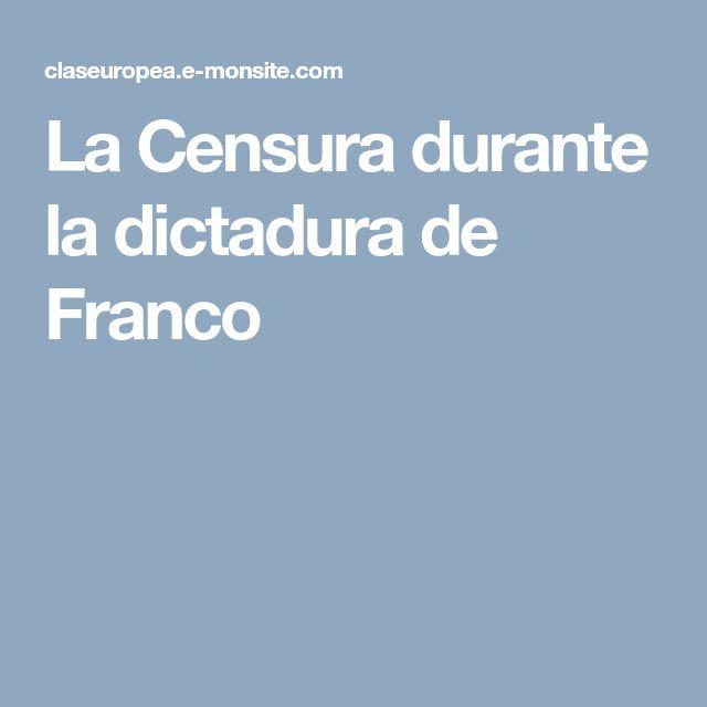 La Censura durante la dictadura de Franco