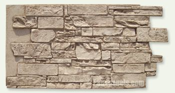 Most amazing faux stone wall ever.  Totally want to try this...