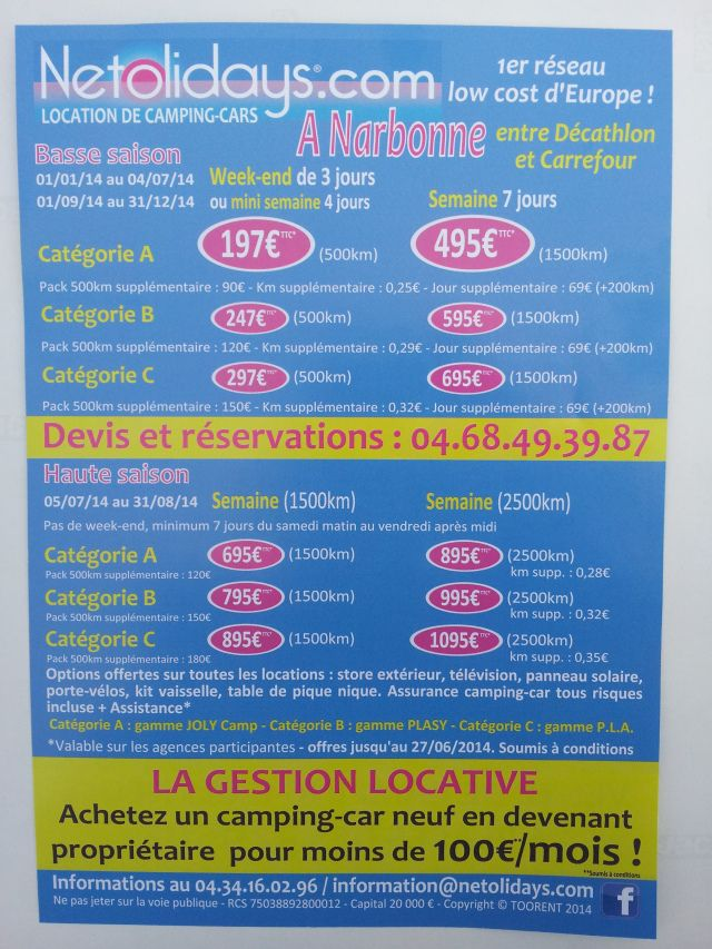 Location camping-cars pas cher