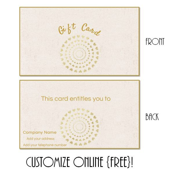 19 best gift cards images on pinterest yin yoga black ribbon gift card template with a cremem textured background and a round design with little gold hearts yelopaper Image collections