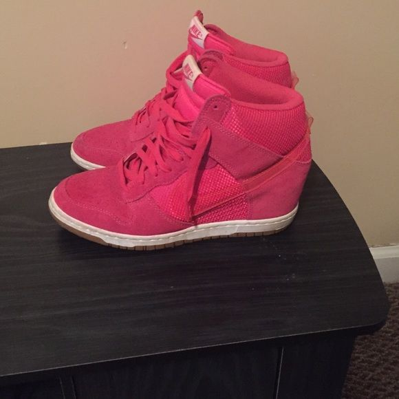 Women's Nike sneaker wedges Used ; some scuffs around the edges; easily removed with suede cleaner Nike Shoes Sneakers
