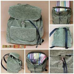 Ahora que se ha puesto otra vez de moda las mochilas, traigo el patrón y tutorial de este modelo en particular de mochila, que a me encanta. Por dar ideas, comento que podéis hacerla y personalizarla totalmente a vuestro gusto como por ejemplo utilizar telas o tejidos que tengáis por ahí, sin