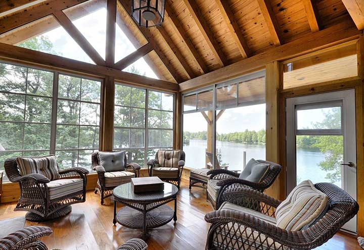 12 best images about weathermaster sunrooms enclosures for Timber frame sunroom addition