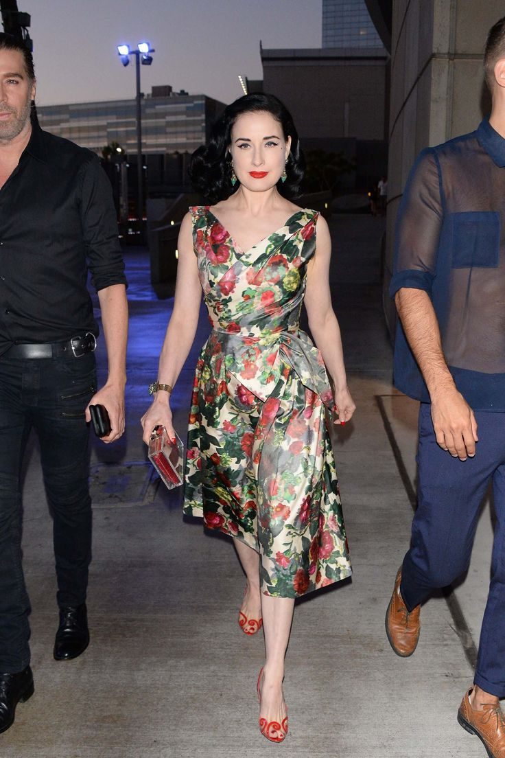 WHO: Dita Von Teese    WHERE: Outside the Adele concert, Los Angeles  WHEN: August 10, 2016