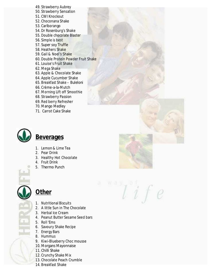 Herbalife recipe book - yes! I have lost 75 pounds on this program three different times (post pregnancy) and these shake recipes make it SO much easier!
