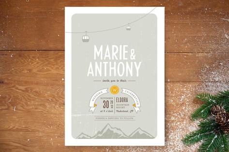 Mountain Wonderland Wedding Invitations