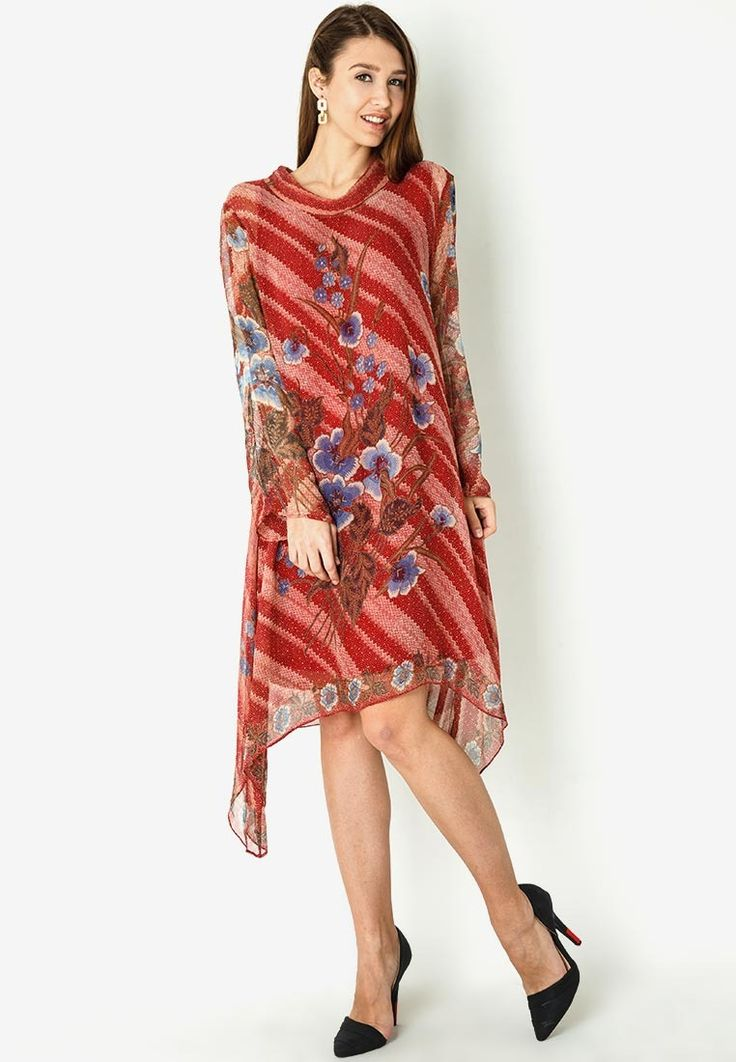 Dress Batik Bunga by Danar Hadi MR1502 | Klikplaza Online Shop