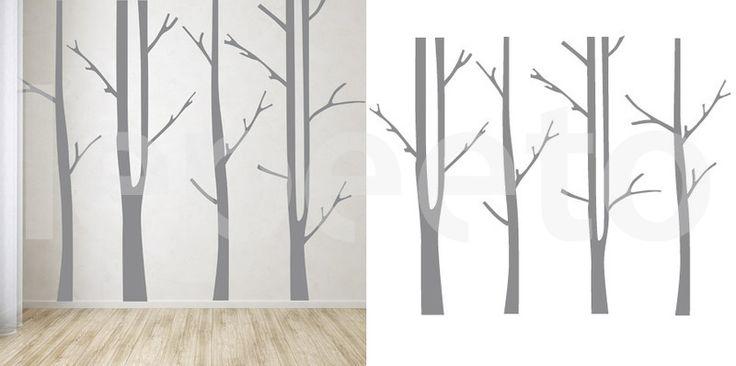 Kmeny stromů - samolepka na zeď - Lepeeto - samolepky na zeď, nálepky na zeď, bordury, tapety, nálepky na okno, nalepovací metry, tabule, obrazy, samolepící dekorace