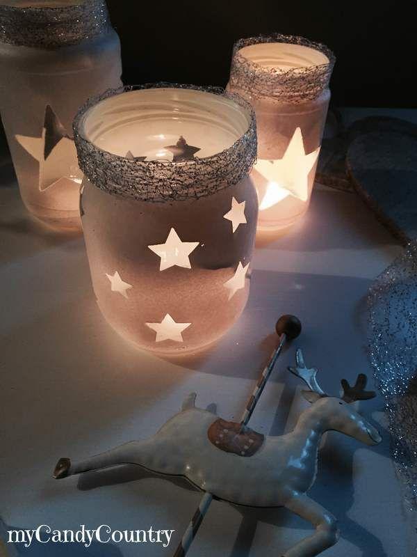 Riciclo Creativo: barattoli decorati per Natale - idee creative, riciclo creativo, fai da te creativo, lavori creativi | myCandyCountry.it