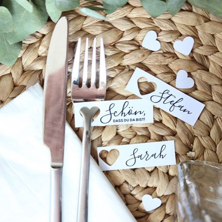 30 simple ideas for DIY place cards