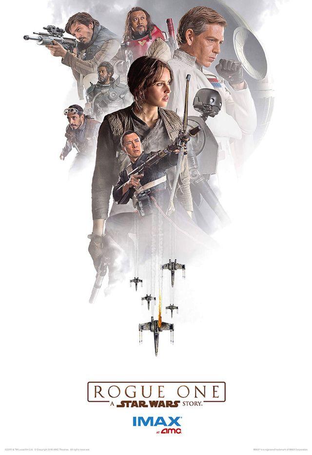 「スター・ウォーズ」の外伝映画「ローグ・ワン」のIMAXポスターが公開!「博士と彼女のセオリー」のフェリシティ・ジョーンズが主演し、ドニー・イェン、チアン・ウェン、ディエゴ・ルナ、リズ・アーメッドらが、反乱軍の戦闘部隊「ローグワン」のメンバーを演じる。