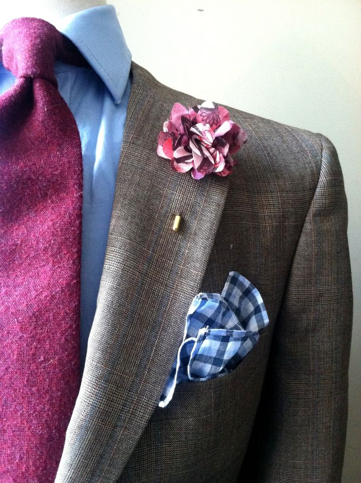 Good splash of color on an otherwise boring suit.