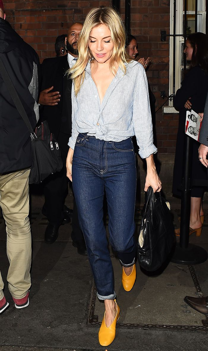Sienna Miller just stepped out in London in the shoes she's been wearing on repeat with jeans. See why it's a match made in heaven here.
