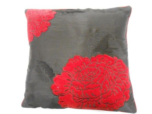 Extravegance Black/Red Cushion Cover – Linen and Bedding