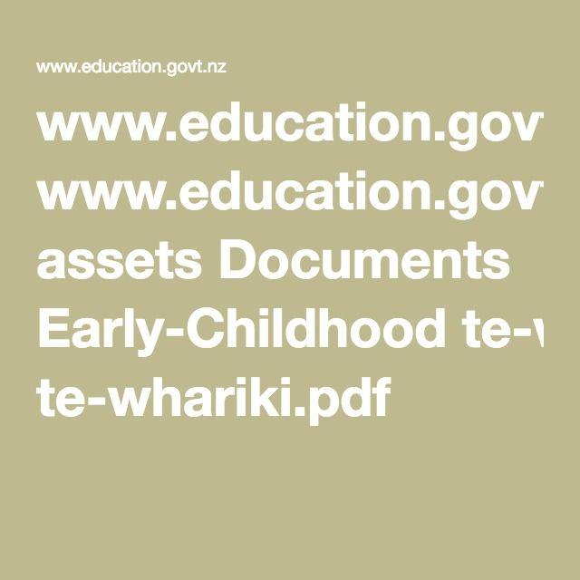 www.education.govt.nz assets Documents Early-Childhood te-whariki.pdf