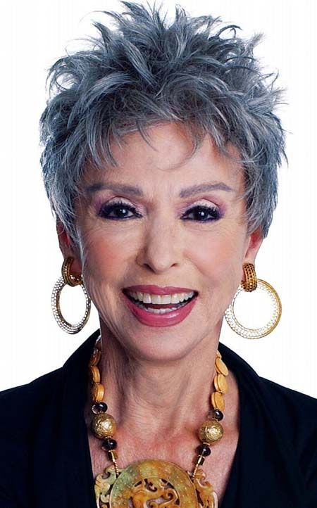 Gray-short-hairstyles-for-women-over-50-with-messy-style