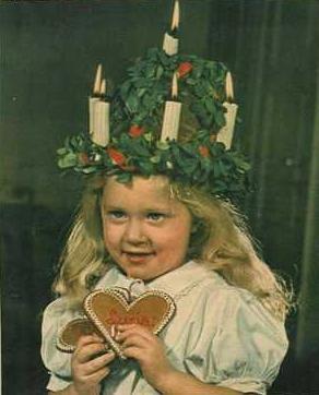 Santa Lucia Child Girl 1945