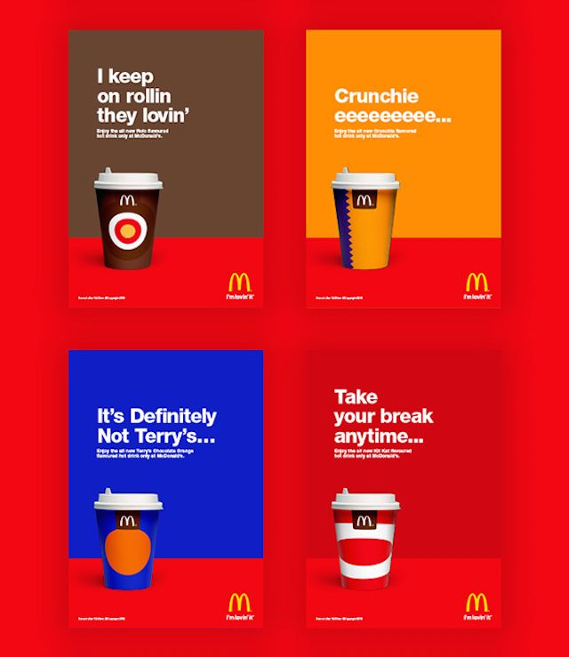 McDonalds Chocolate Drinks New Design – Fubiz™