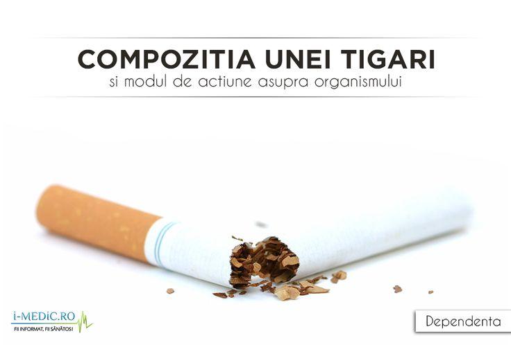 In prezent, se discuta tot mai mult despre efectele nocive ale tigarilor asupra organismului uman si asta cu atat mai mult cu cat studiile au relevat ca aprinderea unei tigari elibereaza aproximativ 4000 de substante toxice, responsabile de aparitia a cel putin 60 de forme de cancer, precum cancer pulmonar sau mamar - http://www.i-medic.ro/tutun-alcool-droguri/compozitia-unei-tigari-si-modul-de-actiune-asupra-organismului