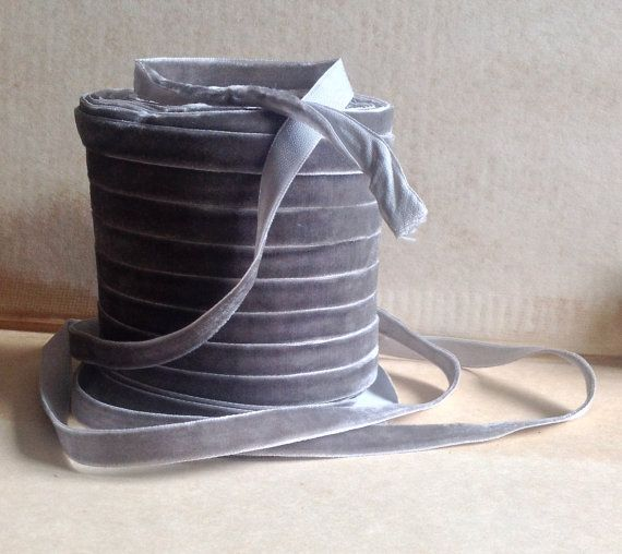 Hey, I found this really awesome Etsy listing at https://www.etsy.com/listing/208488250/pewter-grey-velvet-ribbon