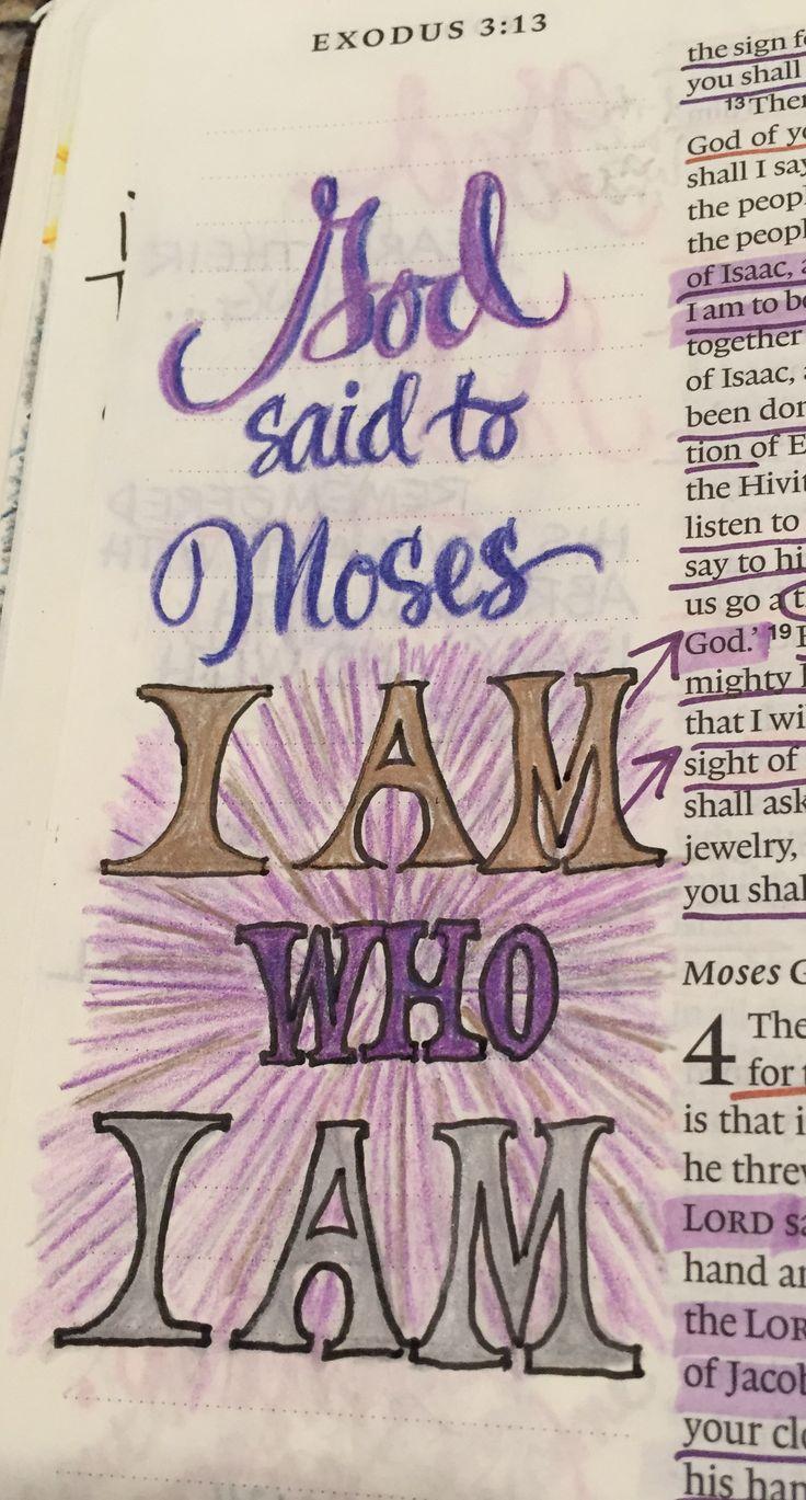 Exodus 3:14, Moses, Bible Journaling