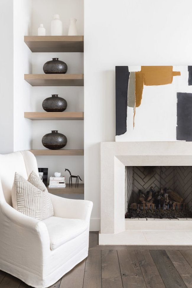 The Prettiest Modern Farmhouse in the Entire World (for *real* though)   lark & linen #hometour #farmhouse #fireplace