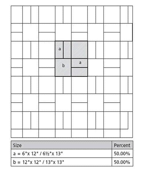 mb tile layout patterns using 2 tile sizes - Ubahnaufkantung Grau