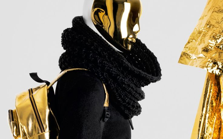 FUSION Collection by More Mannequins #FemaleMannequins #mask #gold