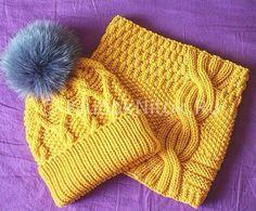 Шапочка спицами и снуд | Вязание для девочек | Вязание спицами и крючком. Схемы вязания.