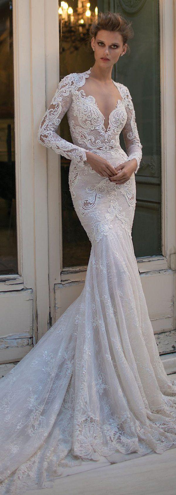 Berta Spring 2016 Vintage Wedding Dress with Long Sleeves