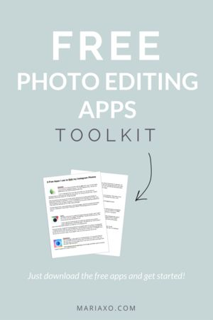 Free Photo Editing Apps Toolkit Just download the free apps and get started!